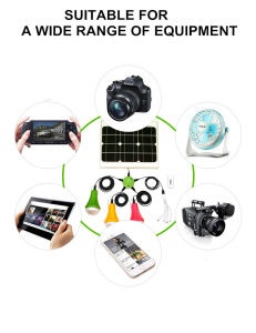 Solar Panel Light with 3PCS Solar Lamp pictures & photos