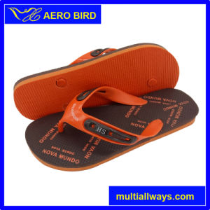 New Colorful Print PE Beach Slippers for Man pictures & photos