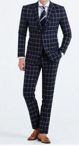 2016 Spring New Men′s Fashion Plaid Leisure Business Suit pictures & photos