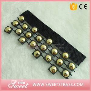 Wholesale Beaded Tape Black Ribbon for Garment Sewing Decoration pictures & photos