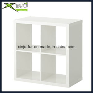 Simple White Wooden 4 Cases Cube