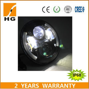 7inch LED Headlight High Low Beam Headlight with Angel Eyes for Harley/Jeep/Auto pictures & photos
