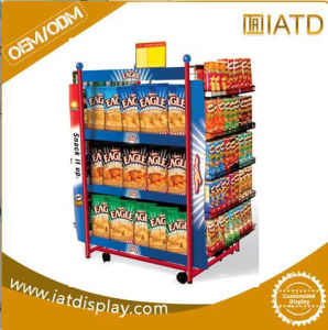 Metal Wire Display Rack with Graphic Panel / Display Stand pictures & photos
