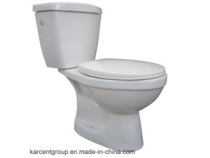 Two Piece Ceramic Toilet Ce Washdown Water Closet 71&70