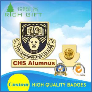 Custom Tin Button Lanyard Aluminum Badge Cmyk Silkscreen Printed Logo pictures & photos