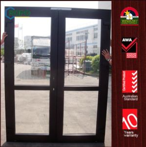 Wooden Interior UPVC Door, Interior Glass French Doors pictures & photos