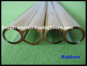High Purity Gold Plating Fused Silica Quartz Twin Tube pictures & photos