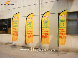 3.4m Exhibition Fiberglass Portable Flying Banner/Feather Flag/Swooper Flags pictures & photos