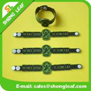 3D Embossed Logo Soft PVC Rubber Bracelet for Kids pictures & photos