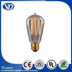 Carbon Filament Incandescent Edison Light Bulb St58