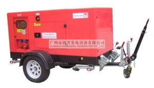 50kVA/40kw Water Cooling Diesel Silent Mobile Generator with Trailer