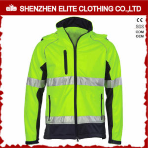 Hi Vis Fluorescent Safety Work Jacket with Reflective Stripes pictures & photos