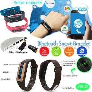 Newest Smart Bluetooth Bracelet with Heart Rate Monitor (HB02) pictures & photos