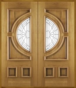 Full Solid Wooden Door with Special Design pictures & photos