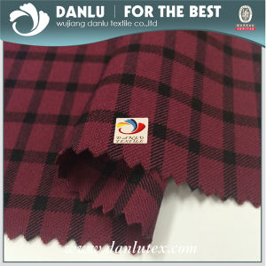 Yarn Dyed Plaid Pattern Stretch Bengaline Fabric for Lady Dress pictures & photos