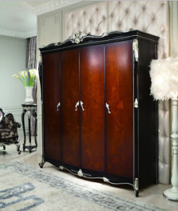 Ol- D4008A-1 Classical Wooden Bedroom Furniture Wardrobe