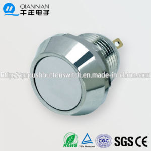 12mm 1no Momentary Flat Head IP65 Stainless Steel Push Button Switch pictures & photos