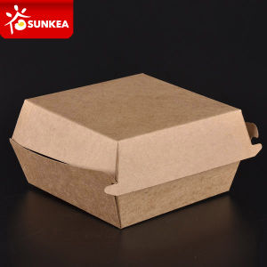 Custom Made Printed Paper Hamburger Box pictures & photos