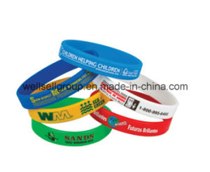 Promotional Multicolor Debossed Silicone Bracelet/Wristband pictures & photos