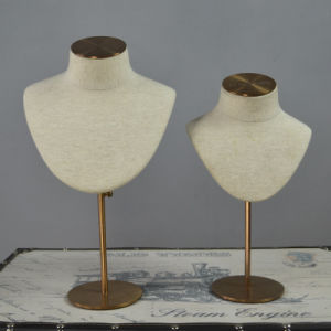 Fiberglass Jewelry Mannequin Display with Chrome Base pictures & photos