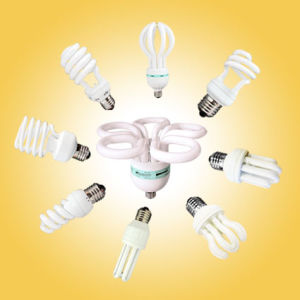 18W T4 Half Spiral Energy Saver CFL Lamp with CE (BNFT4-HS-B) pictures & photos