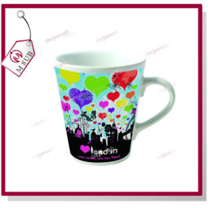 12oz Sublimation Coated Printable Ceramic Latte Mug pictures & photos
