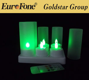 LED Tealight Candle 6set Charging Cradle pictures & photos