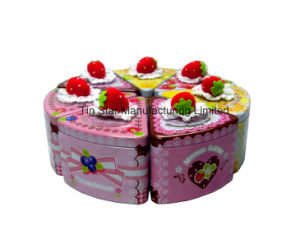 Cake Shape Tin Box Set for Gift Present