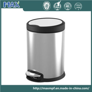 Office Stainless Steel Pedal Dustbin pictures & photos