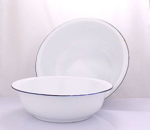 White Simple Useful Enamel Basin with Different Size pictures & photos
