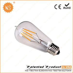 Energy Saving Top Quality E27 400lm 600lm 800lm St64 4W 6W 8W LED Filament Light LED Global Bulb