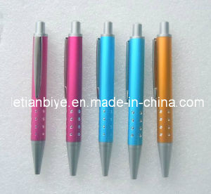 Short Plastic Ballpoint Pen with Metal Clip (LT-Y006) pictures & photos