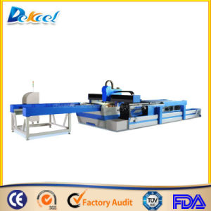 Metal Tube CNC Cutter for Round /Square Fiber Laser Machine pictures & photos