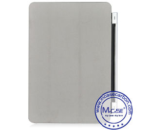 Multi Functional PU Leather Carbon Fiber Smart Cover for iPad Air 2 pictures & photos