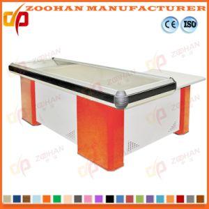 Metal Supermarket Shop Cash Checkstand Table Checkout Cashier Counter (Zhc33) pictures & photos