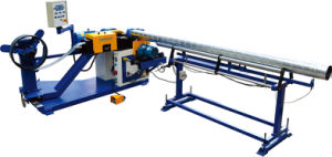 Strip Steel Spiral Tube Forming Machine with Saw Cutting and Roll Shears pictures & photos