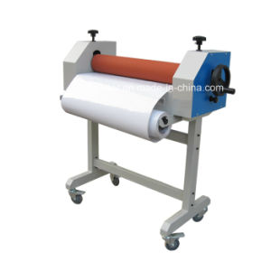 Tss650 Bigger Roller Manual Cold Laminating Machine with Stand pictures & photos