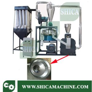 200kg/H PP PE PVC Plastic Milling Machine with SKD-II 450mm Blade Disc pictures & photos