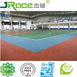 Indoor Synthetic Rubber Basketball Court Spu pictures & photos
