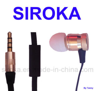 Golden Metal Stereo Earphone with Jack Accessories pictures & photos