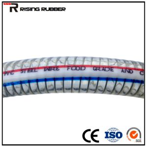 PVC Plastic Steel Wire Reinforced Industrial Water Discharge Hose Pipe pictures & photos