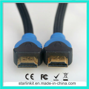 High Speed HDMI Cable 3D 4k Gold Plated Black Blue pictures & photos