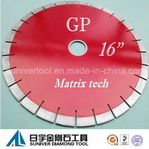 """Gp 16""""*20mm Diamond Array Tech Blade for Granite pictures & photos"""
