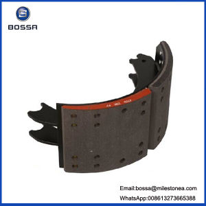 "Auto Brake Spare Parts Nissan Oil Brake Shos 220mm 38 Holes 8 1/5 8.5"" Iron Casting for Heavdy Duty Truck Trailer pictures & photos"