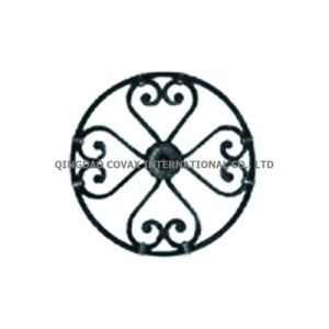 Wrought Iron Door Flower Panel 11058 Steel Fence Gate Weldable Rosette pictures & photos