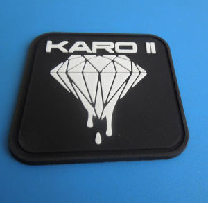 Customzied Square Soft PVC Patch Embossed Company Logo pictures & photos