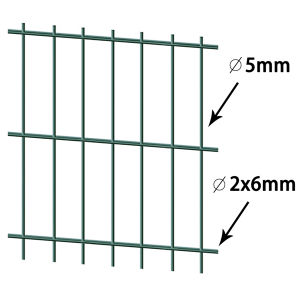 Green PVC Coated Double Wire Fence Panel pictures & photos