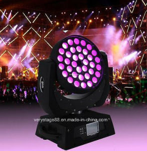 36*15W RGBWA +UV 6in 1 Wash LED Zoom Moving Head pictures & photos