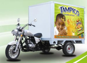 China Enclosed Ice Cream Tricycle Three Wheel Cargo Tricycle with Cooling Box pictures & photos