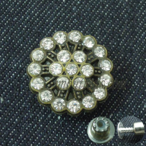 Glass Crystal Rhinestone Women Jeans Fix Button pictures & photos